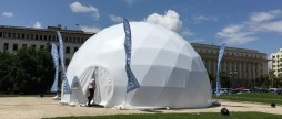 Rent of dome D = 11 m / 95 m² at a price of 2812 EUR without VAT for one event.