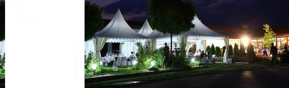 Rental, sale, production of  tents and halls